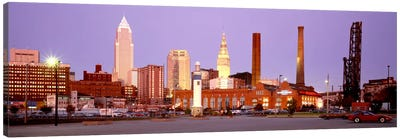 Skyline, Cleveland, Ohio, USA Canvas Art Print