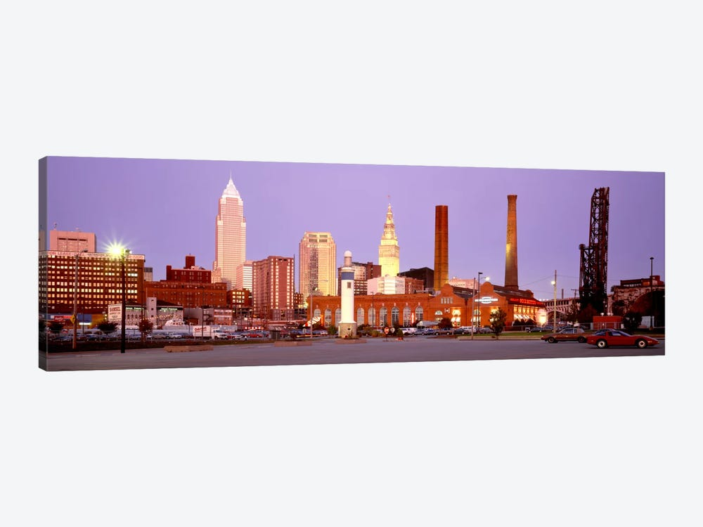 Skyline, Cleveland, Ohio, USA by Panoramic Images 1-piece Canvas Artwork