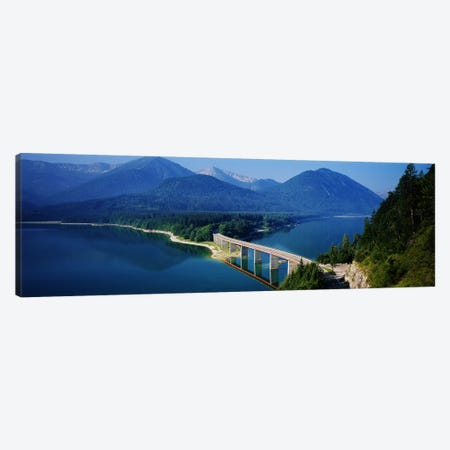 Bridge Over Sylvenstein Reservoir, Isar Valley, Upper Bavaria, Germany Canvas Print #PIM3410} by Panoramic Images Canvas Print