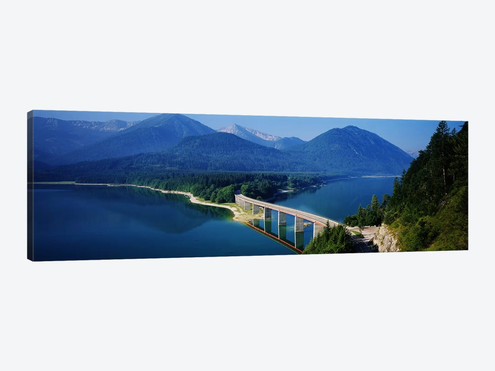 Bridge Over Sylvenstein Reservoir, Isar Valley, Upper Bavaria, Germany by Panoramic Images 1-piece Canvas Wall Art