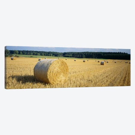 Bales of Hay Southern Germany Canvas Print #PIM3414} by Panoramic Images Canvas Artwork