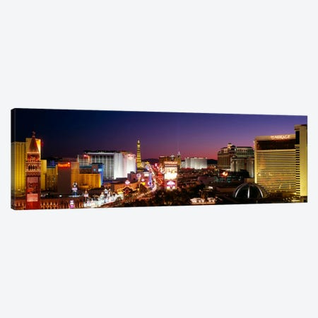Buildings Lit Up At Night, Las Vegas, Nevada, USA #2 Canvas Print #PIM3417} by Panoramic Images Canvas Art