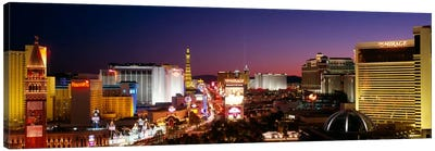 Buildings Lit Up At Night, Las Vegas, Nevada, USA #2 Canvas Art Print