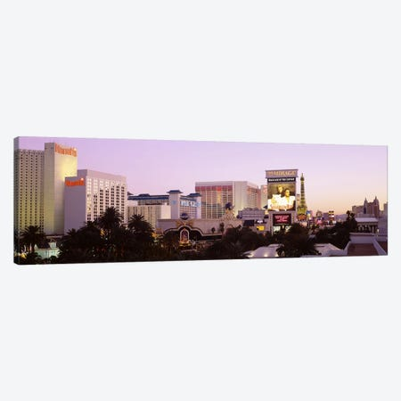 Dusk Las Vegas NV Canvas Print #PIM3418} by Panoramic Images Canvas Art Print
