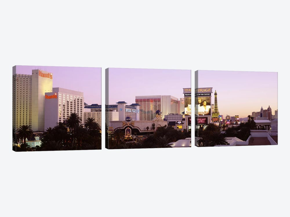 Dusk Las Vegas NV by Panoramic Images 3-piece Canvas Wall Art
