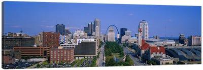 High Angle View Of A City, St Louis, Missouri, USA Canvas Print #PIM3420