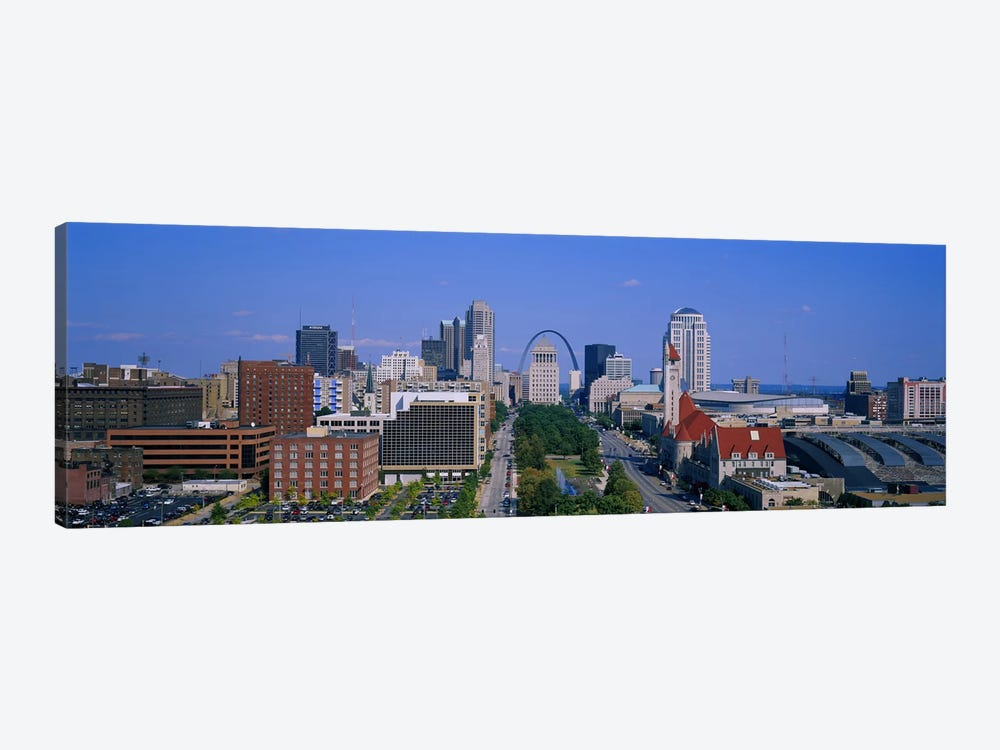 High Angle View Of A City, St Louis, Missouri, USA by Panoramic Images 1-piece Canvas Print