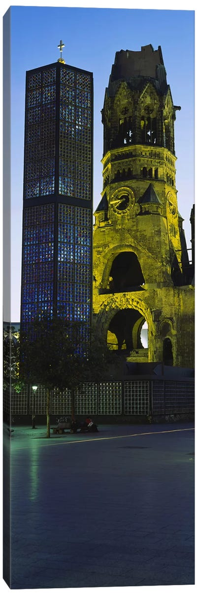 Tower of a church, Kaiser Wilhelm Memorial Church, Berlin, Germany Canvas Art Print