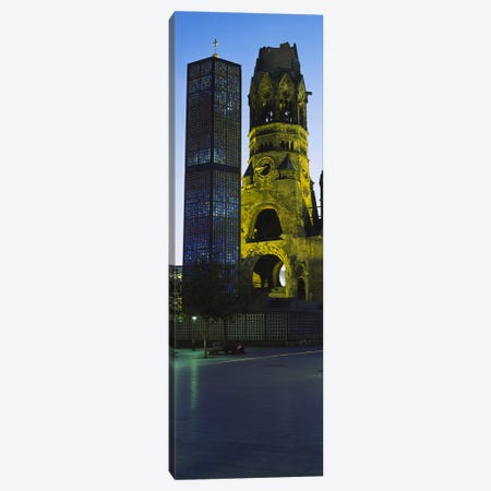 Tower of a church, Kaiser Wilhelm Memorial Church, Berlin, Germany Canvas Print #PIM3425} by Panoramic Images Canvas Print