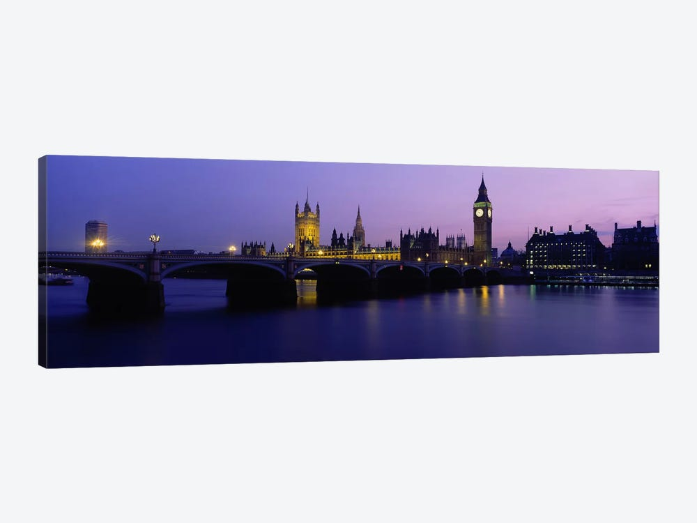 An Illuminated Palace Of Westminster I, London, England, United Kingdom by Panoramic Images 1-piece Art Print