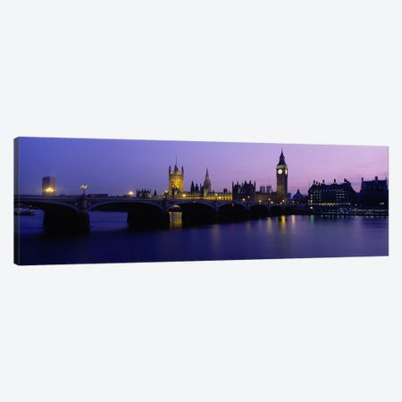 An Illuminated Palace Of Westminster I, London, England, United Kingdom Canvas Print #PIM3426} by Panoramic Images Art Print