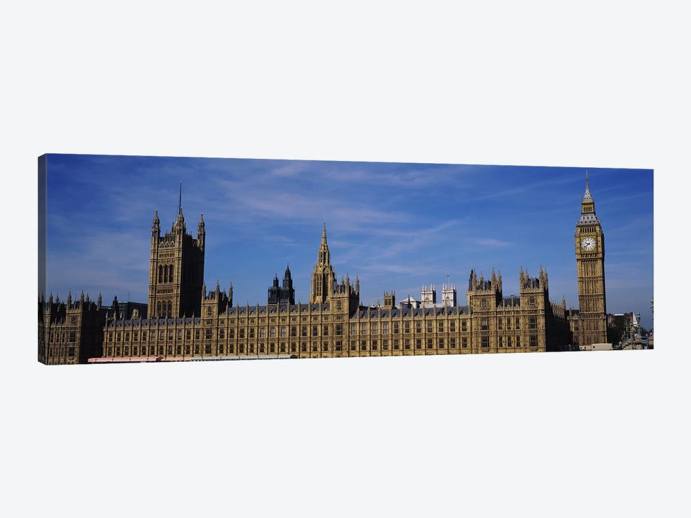 Blue sky over a building, Big Ben and the Houses Of Parliament, London, England by Panoramic Images 1-piece Canvas Art Print