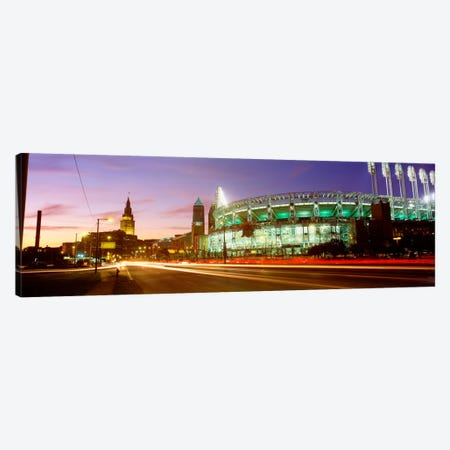 Low angle view of a baseball stadium, Jacobs Field, Cleveland, Ohio, USA Canvas Print #PIM342} by Panoramic Images Canvas Art Print
