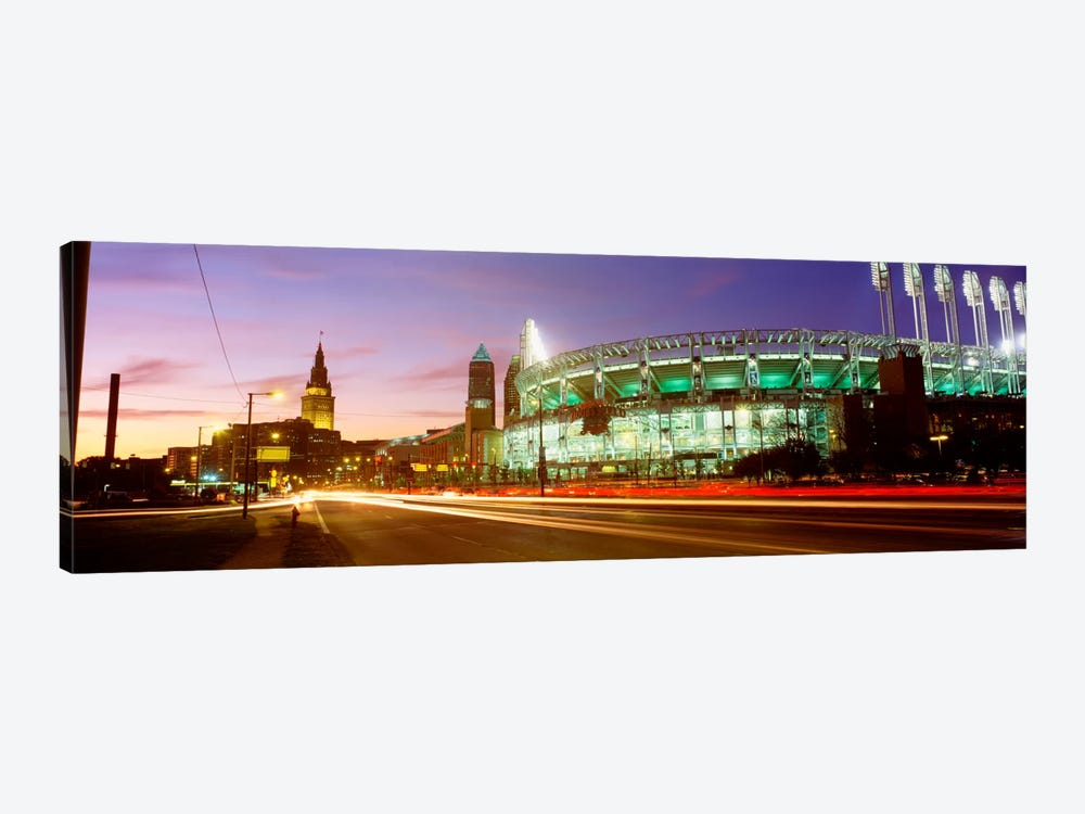 Low angle view of a baseball stadium, Jacobs Field, Cleveland, Ohio, USA by Panoramic Images 1-piece Canvas Art