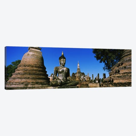Statue Of Buddha In A Temple, Wat Mahathat, Sukhothai, Thailand Canvas Print #PIM3430} by Panoramic Images Canvas Print