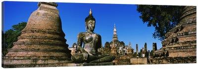 Statue Of Buddha In A Temple, Wat Mahathat, Sukhothai, Thailand Canvas Print #PIM3430