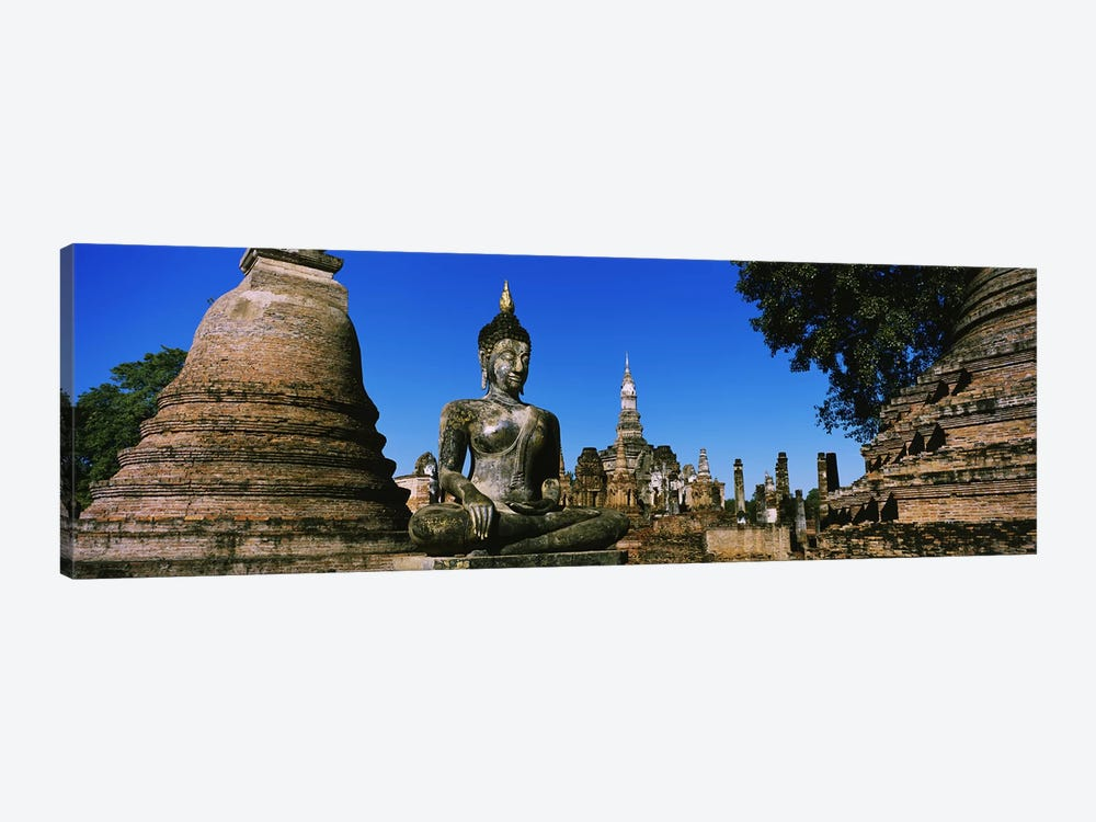 Statue Of Buddha In A Temple, Wat Mahathat, Sukhothai, Thailand 1-piece Canvas Wall Art