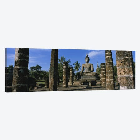 Statue of Buddha In A TempleWat Mahathat, Sukhothai, Thailand Canvas Print #PIM3431} by Panoramic Images Canvas Print