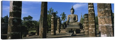 Statue of Buddha In A TempleWat Mahathat, Sukhothai, Thailand Canvas Art Print