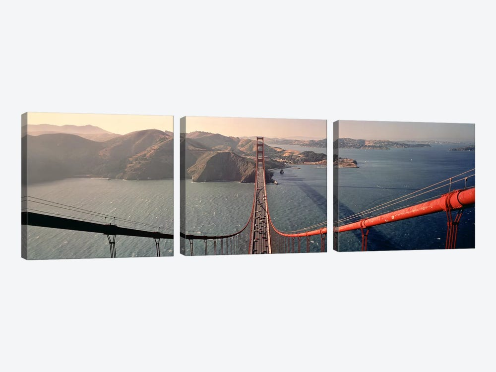 Golden Gate Bridge California USA by Panoramic Images 3-piece Canvas Wall Art