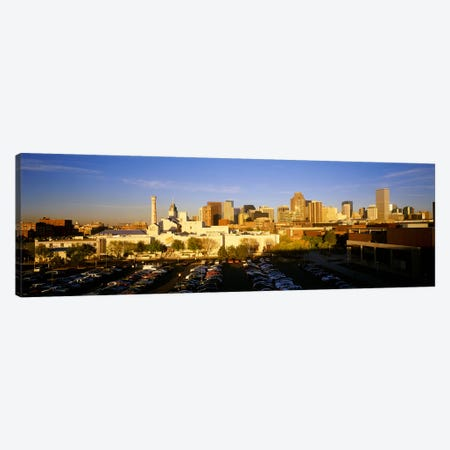 USAColorado, Denver, High angle view of parking lot Canvas Print #PIM3434} by Panoramic Images Canvas Artwork
