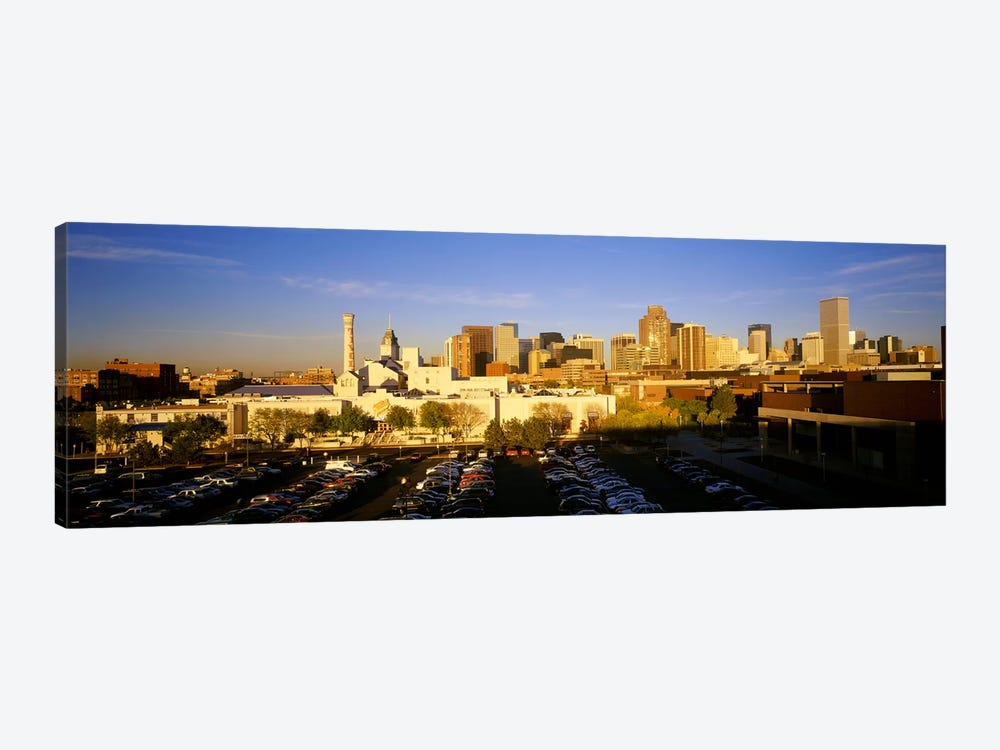 USAColorado, Denver, High angle view of parking lot by Panoramic Images 1-piece Canvas Wall Art