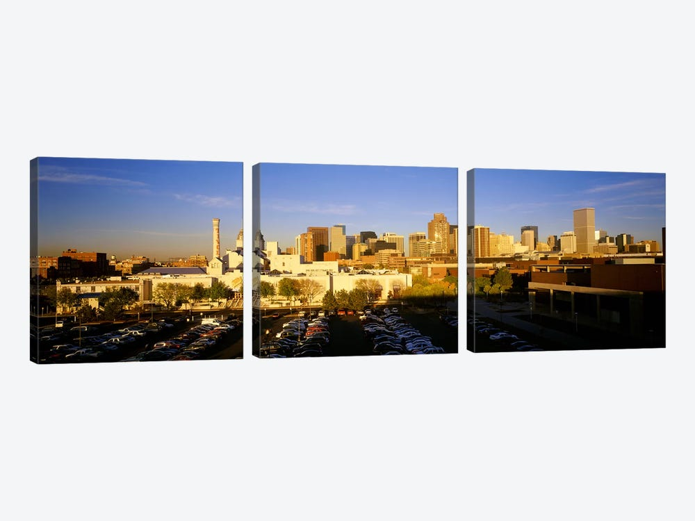 USAColorado, Denver, High angle view of parking lot by Panoramic Images 3-piece Canvas Wall Art