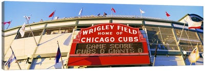 USAIllinois, Chicago, Cubs, baseball Canvas Art Print