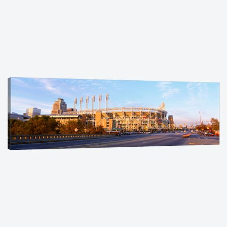 Facade of a baseball stadium, Jacobs Field, Cleveland, Ohio, USA Canvas Print #PIM343} by Panoramic Images Canvas Art Print
