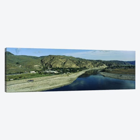 High angle view of Columbia RiverWashington State, USA Canvas Print #PIM3444} by Panoramic Images Art Print