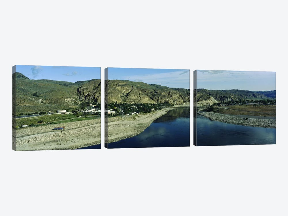 High angle view of Columbia RiverWashington State, USA by Panoramic Images 3-piece Canvas Art Print