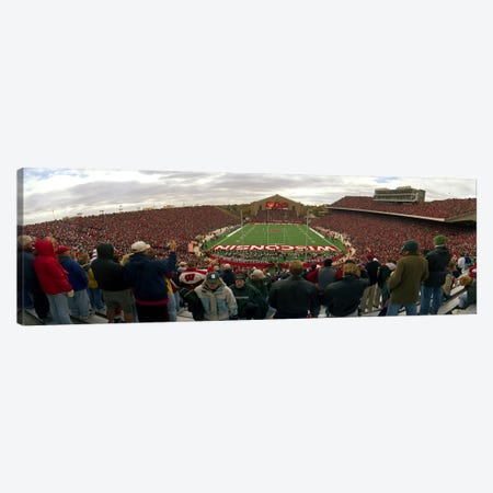 Spectators watching a football match at Camp Randall Stadium, University of Wisconsin, Madison, Dane County, Wisconsin, USA Canvas Print #PIM3445} by Panoramic Images Art Print