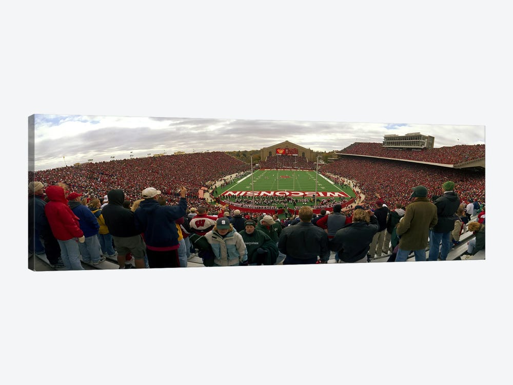 Spectators watching a football match at Camp Randall Stadium, University of Wisconsin, Madison, Dane County, Wisconsin, USA by Panoramic Images 1-piece Canvas Artwork