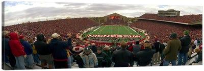 Spectators watching a football match at Camp Randall Stadium, University of Wisconsin, Madison, Dane County, Wisconsin, USA Canvas Art Print