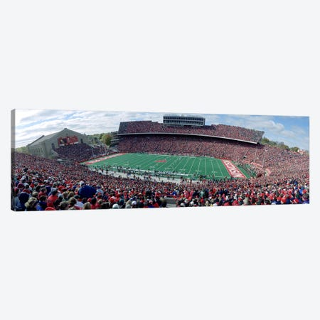 University Of Wisconsin Football Game, Camp Randall Stadium, Madison, Wisconsin, USA Canvas Print #PIM3446} by Panoramic Images Art Print