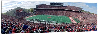 University Of Wisconsin Football Game, Camp Randall Stadium, Madison, Wisconsin, USA Canvas Art Print