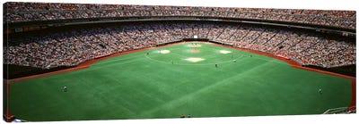 Spectator watching a baseball match, Veterans Stadium, Philadelphia, Pennsylvania, USA #2 Canvas Print #PIM3449