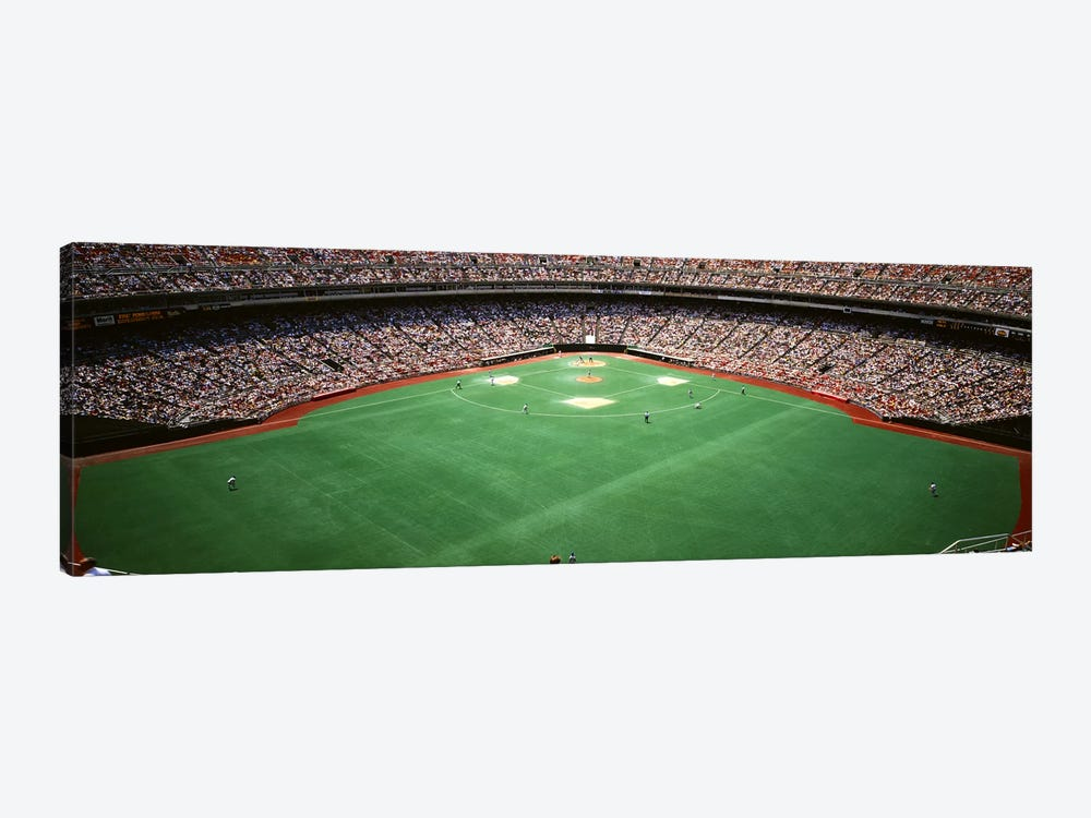Spectator watching a baseball match, Veterans Stadium, Philadelphia, Pennsylvania, USA #2 by Panoramic Images 1-piece Canvas Artwork