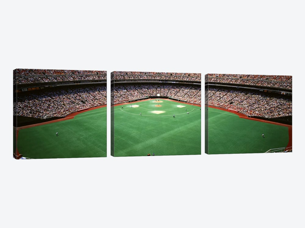 Spectator watching a baseball match, Veterans Stadium, Philadelphia, Pennsylvania, USA #2 3-piece Canvas Artwork