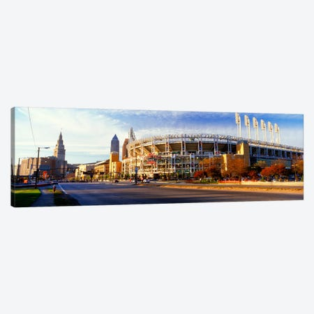 Low angle view of baseball stadium, Jacobs Field, Cleveland, Ohio, USA Canvas Print #PIM344} by Panoramic Images Canvas Art
