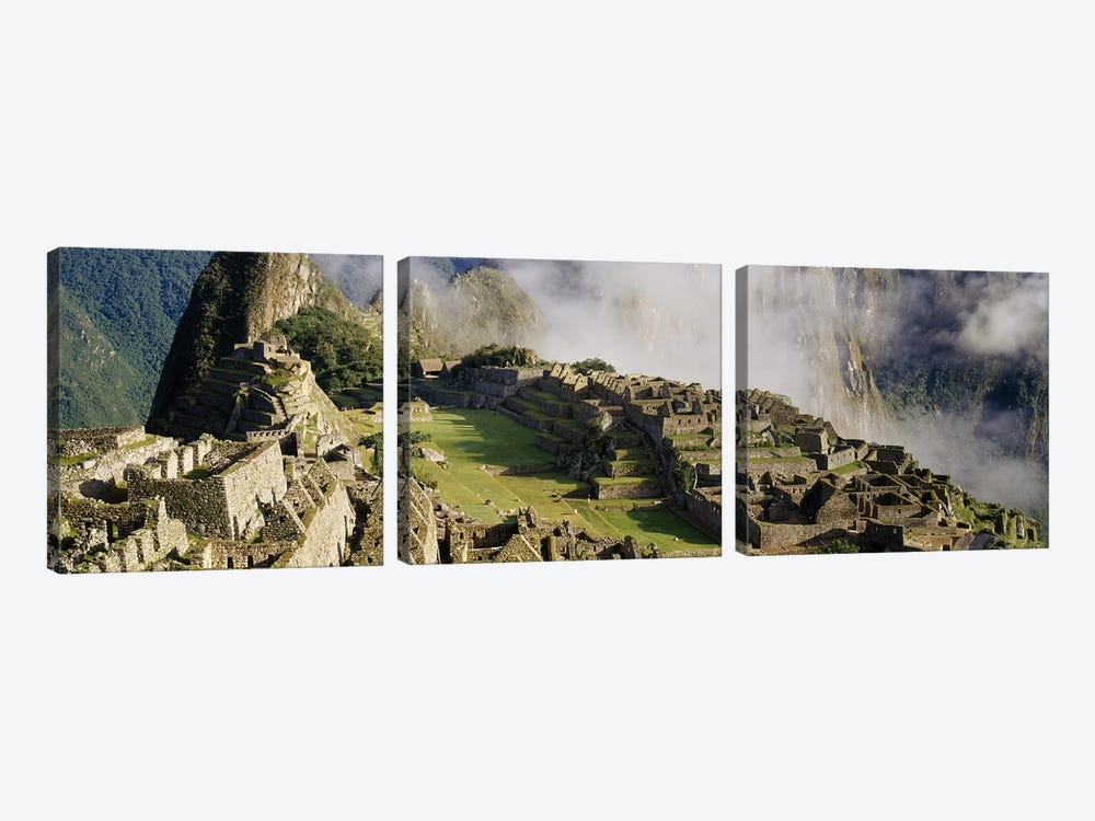 Machu Picchu, Cusco Region, Urubamba Province, Peru by Panoramic Images 3-piece Canvas Art