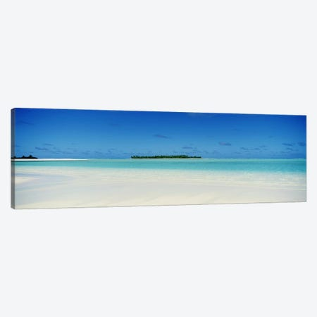 Tranquil Seascape, Cook Islands Canvas Print #PIM3457} by Panoramic Images Canvas Art