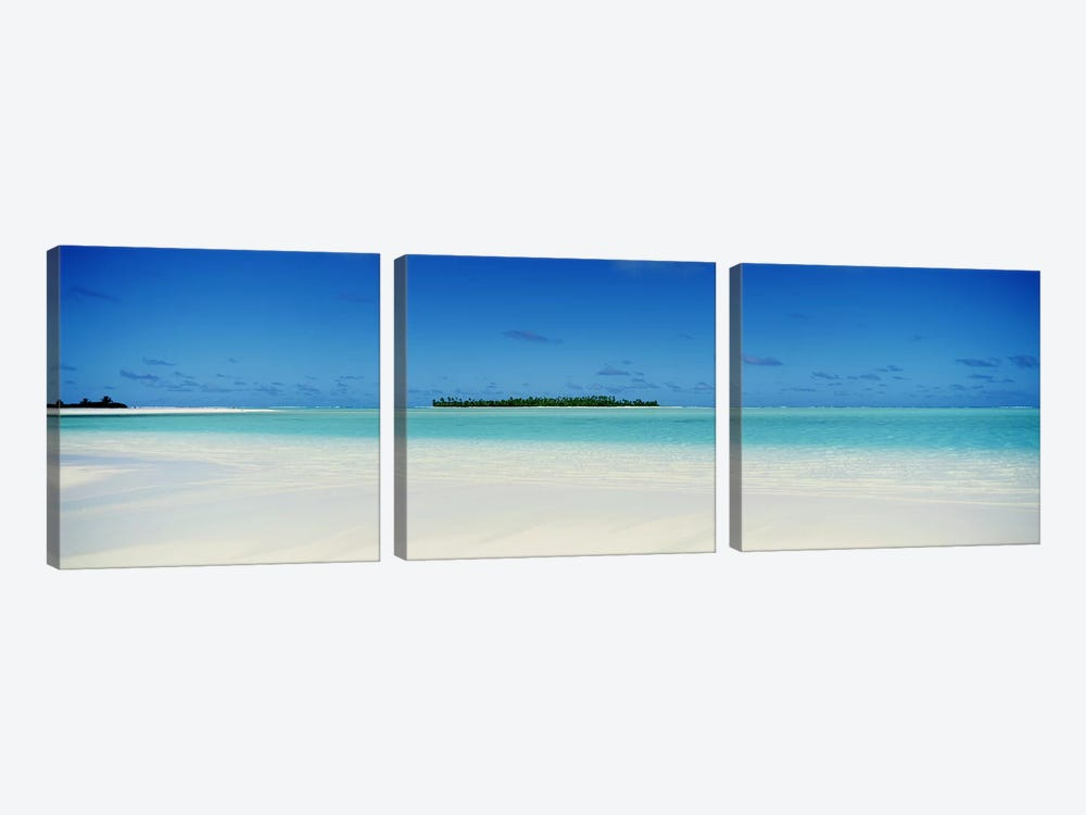 Tranquil Seascape, Cook Islands by Panoramic Images 3-piece Art Print