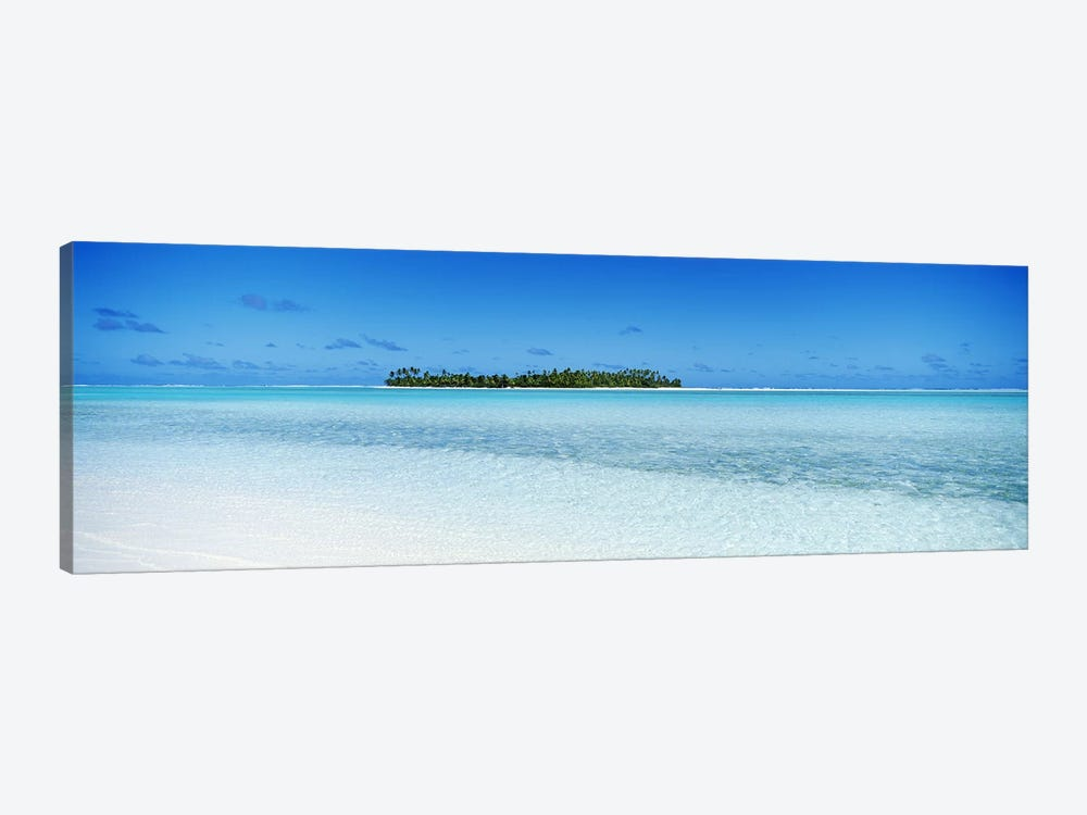 Distant View Of Maina, Aitutaki, Cook Islands by Panoramic Images 1-piece Canvas Wall Art