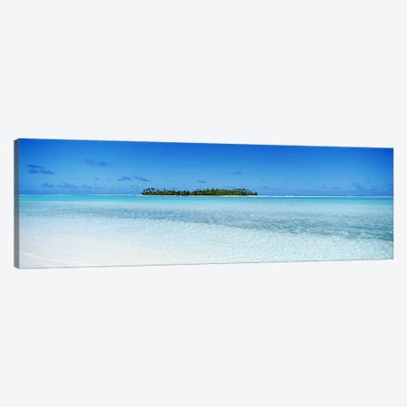 Distant View Of Maina, Aitutaki, Cook Islands 3-Piece Canvas #PIM3458} by Panoramic Images Art Print