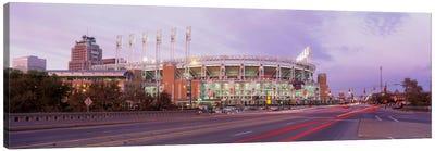 Baseball stadium at the roadside, Jacobs Field, Cleveland, Cuyahoga County, Ohio, USA Canvas Art Print
