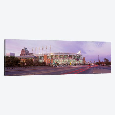Baseball stadium at the roadside, Jacobs Field, Cleveland, Cuyahoga County, Ohio, USA Canvas Print #PIM345} by Panoramic Images Canvas Wall Art