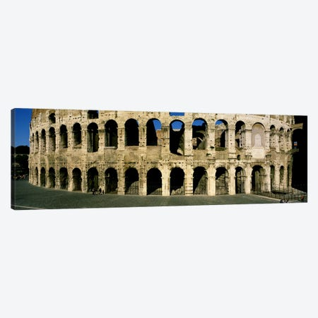 Colosseum Rome Italy Canvas Print #PIM3462} by Panoramic Images Canvas Wall Art