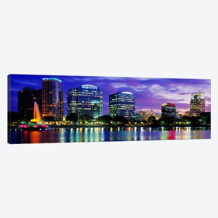 Panoramic View Of An Urban Skyline At Night, Orlando, Florida, USA Canvas Print #PIM3465} by Panoramic Images Canvas Art Print