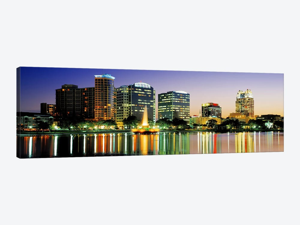 Skyline At Dusk, Orlando, Florida, USA by Panoramic Images 1-piece Canvas Print